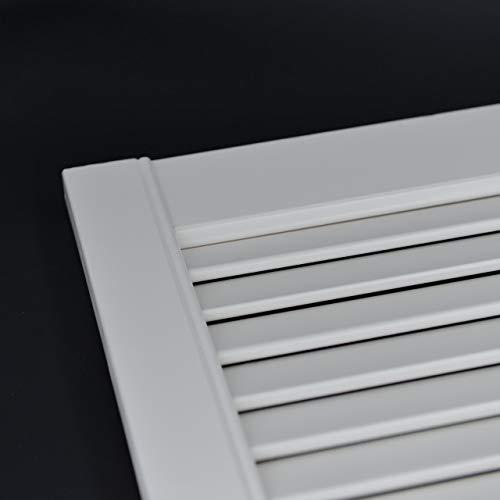Offene Lamellentür Schranktür Heizkörperverkleidung Kiefer weiß lackiert 395 x 394 x 21 mm