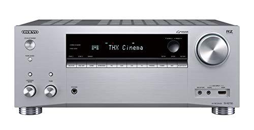 Onkyo TX-RZ730(S) 9.2 Kanal AV Receiver (THX Kinoklang, 175 W/Kanal, Multiroom, Dolby/DTS:X, WLAN, Bluetooth, Streaming, Musik Apps, Spotify, Tidal, Deezer, Internetradio), Silber (Onkyo Nur)