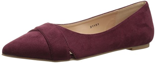 Brinley Co Women's WATT Ballet Flat, Wine, 7 Regular US