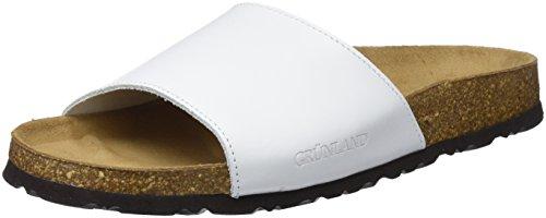 Grunland sara, scarpe da spiaggia e piscina donna, bianco (bianco), 39 eu
