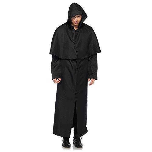 issionar Halloween Cosplay Kostüm Tunika Hooded Robe Kapuzenmantel Cape Medieval Kapuzen-Party-Ausrüstung ()