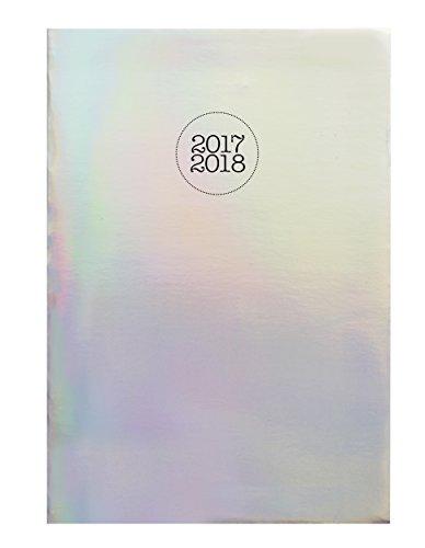 Exacompta Holographik Agenda Scolaire Journalier Forum août 2017 à juillet 2018 12 x 17 cm visuel Argent
