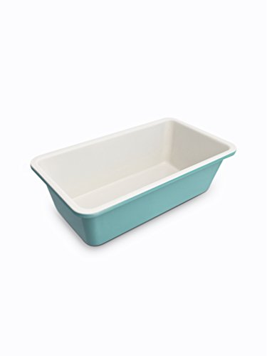 GreenLife Ceramic Non-Stick Loaf Pan, Turquoise Aluminium-non-stick Loaf Pan