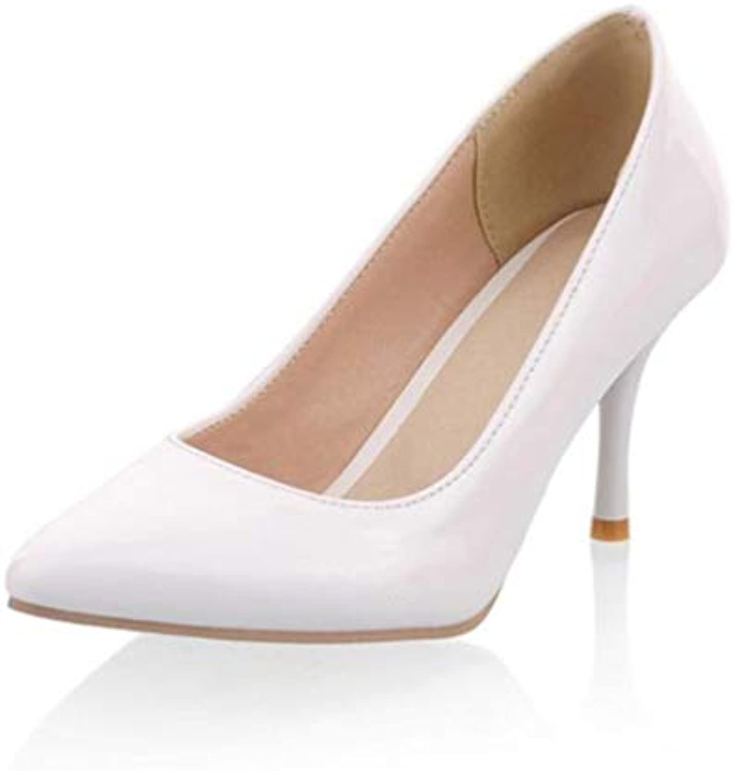 a264826b6d JRenok Women high Heels Office Ladies Shoes Shoes Shoes Shallow Party Sexy  Pumps Fashion Footwear Heels Wedding Stilettos B07HF33TNY Parent 51a299