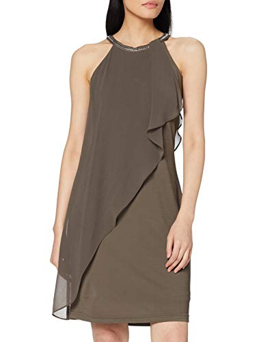 ESPRIT Collection Damen 037EO1E015 Kleid, Braun (Taupe 240), 36