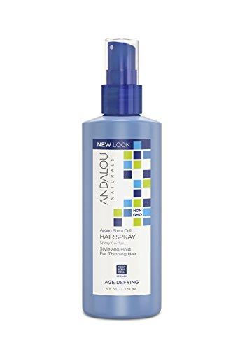 Andalou Naturals Hair Spray Age Defying Argan Fruit Stem Cells 6 Oz