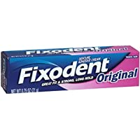 Fixodent Denture Adhesive Cream, Original, Strong and Long Hold - 0.75 Oz (Pack of 5) by Fixodent