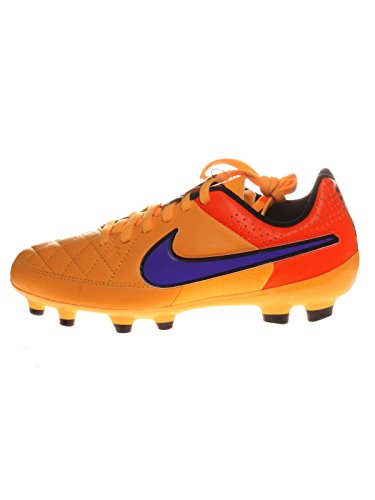 Nike  Tiempo Genio Leather FG, Chaussures de football mixte enfant - LSR ORNG/PRSN VLT-TT