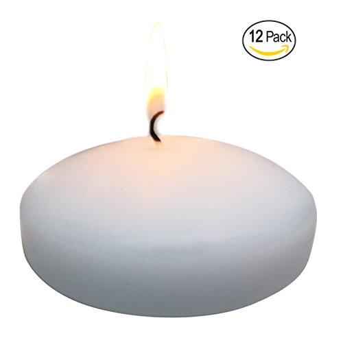 Royal imports candele galleggianti wedding disco 3 pollici bianco-naa