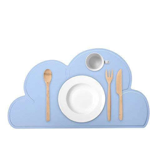 Guzack Baby Tovaglietta, Nube forma, antiscivolo Food Grade Silicone Pad Tabella Place Mat impermeabile Portatile per Bambino Neonato