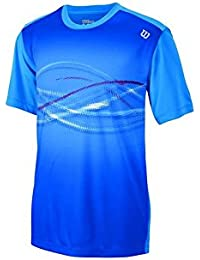 Wilson B LSU Soundwave Print Crew NEPTUNE BL - Camiseta unisex