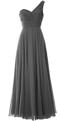 MACloth - Robe - Asymétrique - Sans Manche - Femme Gris - Gris