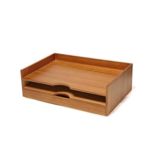 YJPDPZWJ Massivholz Aktenschrank, Büro große Desktop-Multi-Layer-Schublade, Ordner, Holzregal Schreibtisch (Color : Wood Color, Size : C) (Aktenschrank Massivholz)