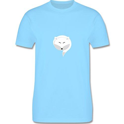 Eulen, Füchse & Co. - Kleiner Schneefuchs - Herren Premium T-Shirt Hellblau