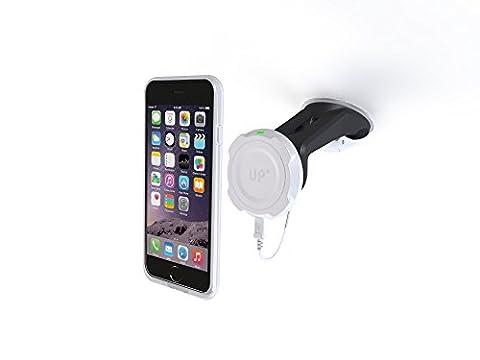 XFlat UPM2I6S - Set aus magnetischer KFZ-Induktionsladestation mit Saugnapf (UPM200) + schwarze Schutzhülle mit Induktionsladefunktion für iPhone 6S (UPMAI6SB), inkl. USB Kabel