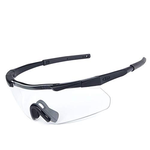 Beydodo Schutzbrille für Brillenträger Sportbrille Radfahren Sicherheitsbrille Damen Schwarz Schießbrille für Brillenträger