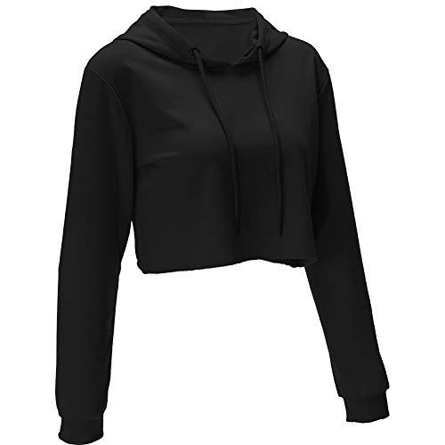 MISSWongg Frauen Teen Mädchen Hoodie,Damen Sexy Crop Top Sweatshirt Pullover Kausal Gemütliche Weiche Kapuzenpullover Tops Bluse (Trenchcoat Teen)