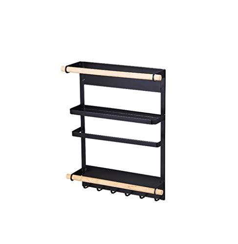 MMGN 3 in1 unter kabinett papierhandtuchhalter Rolle papierhandtuchhalter multifunktionale Metall Organizer, Black & White,Black