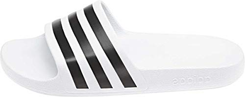 adidas Unisex-Erwachsene Adilette Aqua Badeschuhe, Weiß Core Black/Footwear White 0, 42 EU