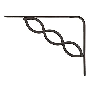 RUBBERMAID 1877646 Decorative Shelf Bracket, 6 by 8-Inch, Celtic Scroll, Bronze