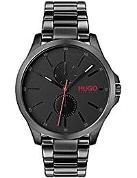 Hugo 1530028 - Reloj de Pulsera para Hombre (Mecanismo de Cuarzo, Correa IP Negra y Correa IP Negra),…