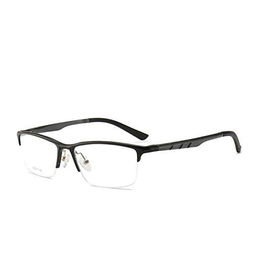 Shiduoli Geschäftsbrillen der Männer gestalten quadratischen halben Rahmen Nicht verschreibungspflichtige Gläser für Frauenmann-Computergläser (Color : Black)