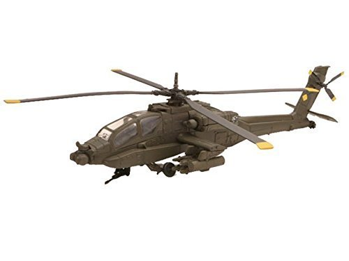 Boeing AH-64 Apache Diecast Military Helicopter 1:55 Commingle - Model Kit by NewRay