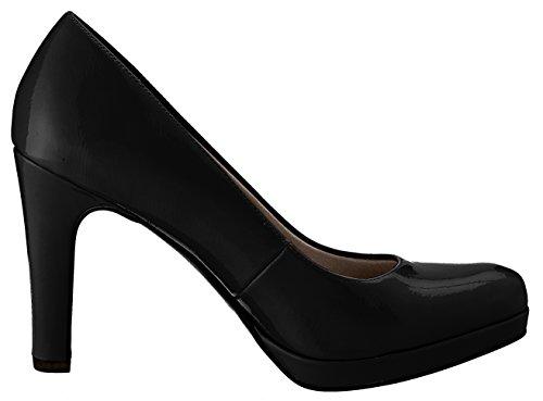 Femme 22426 à Black Noir Plateforme Tamaris Escarpins Patent wIxzETUndq