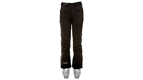 iFLOW Damen Glacier Pant Women Ski Hose, Black, XL