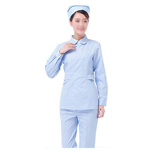 CX ECO Engel Uniformen Frauen Krankenschwester Anzug Medical Scrub Set Anti-Falten Medical Uniformen 3-Pocket-Top und Hosen Workwear Beauty Salon Laborkittel,XL (Frauen Scrubs Uniformen)