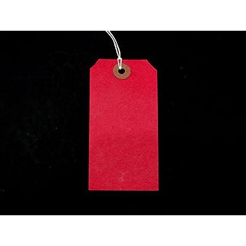 La hiedra rojo colgadas 120 mm x 60 mm etiquetas de equipaje etiquetas adhesivas de entradas de corbata de etiquetas (, 50 unidades)