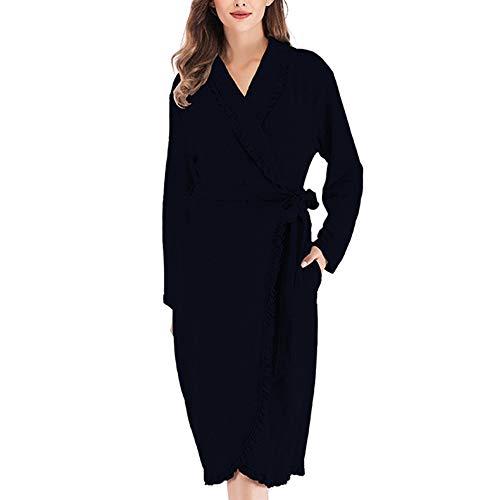 Pijama de Kimono para Mujer, Cuello en V de Encaje/Boda/Fiesta, Comodidad, sueño,...