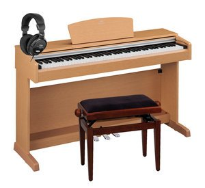 Yamaha YDP-141 C Arius Digitalpiano Set (Kirsche) inkl. Pianobank und Kopfhörer