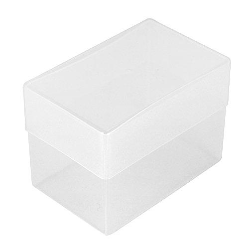 WestonBoxes Visitenkarten-Box, Kunststoff, 70 mm tief (5 Stück)