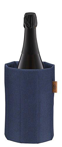 Alfi Premium Coat blau braun Flaschenkühler, Stoff, 14,7 x 14,7 x 21,5 cm
