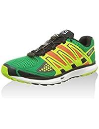 Salomon X-SCREAM SINOPLE Zapatillas para Correr Running City Trail Verde Amarillo Naranja para Hombre