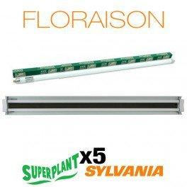 Galleria fotografica Kit fioritura t5ho 10x 54W 3000K Plug and Play–SuperPlant & Sylvania