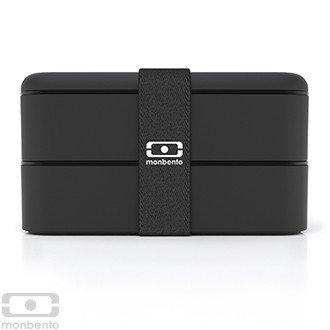 Monbento Original schwarz - Die Bento-Box + Edelstahlstyling Universalmesser GRATIS -