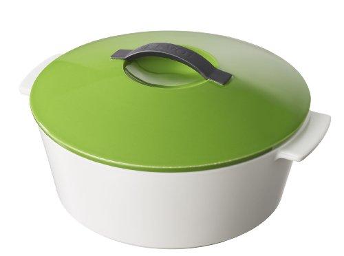 Revol RV642311 Revolution - Cacerola redonda (26 cm), color blanco y verde