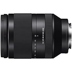 Sony FE 24 - 240mm F3,5 - 6,3 OSS - Objetivo para cámaras con montura tipo E (distancia focal 24-240mm, zoom óptico 10x, estabilizador), negro