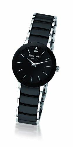 Pierre Lannier - 006K938 - Montre Femme - Quartz Analogique - Cadran Noir - Bracelet Acier et Cramique Noir