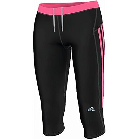 adidas Response 3/4 - Pantalones pirata de running para hombre, color negro, talla UK: Size 46