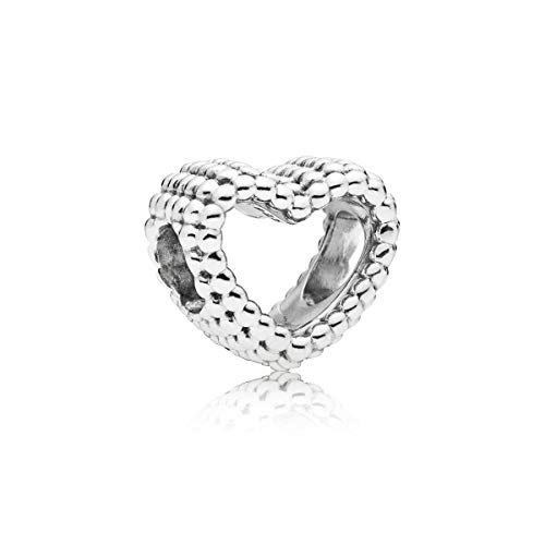 Pandora Damen Moments Offenes Metallperlen Herz Charm Sterling Silber 797516