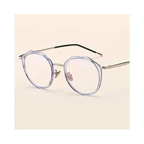 Dhrfyktu Unisex Fashion Polygon optischen Brillengestell für Männer/Frauen (Farbe : Blau)