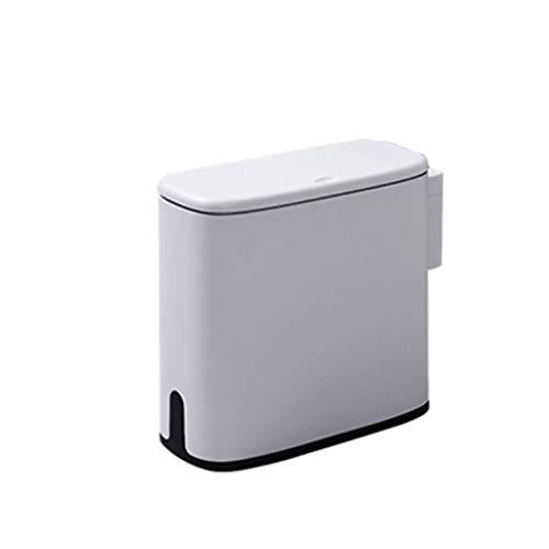 Zlw-shop Secchi per la spazzatura Pattumiera Rettangolare di Grande capacità con Coperchio Contenitore in plastica (Color : Gray)