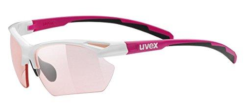 Uvex Sportstyle 802 Small V - Gafas de ciclismo unisex, color blanco /