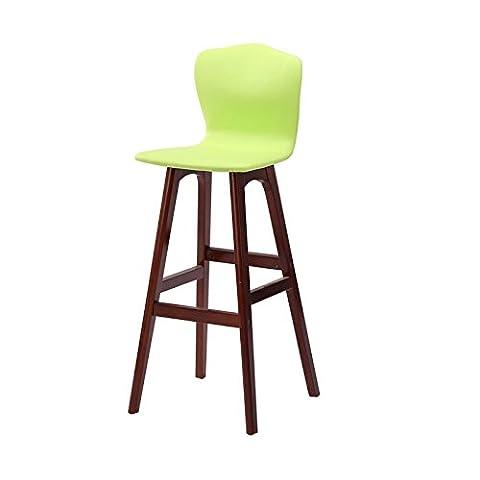 WGL Tabouret de bar en bois massif simple, fauteuil de haute hauteur Comptoir de bar Chaise haute Cafétére Tabouret de rangement Chaise de loisirs pour ménage Restaurant Magasin Caisse Chaise haute 65-74cm acheter ( Couleur : #2 , taille : 74cm )