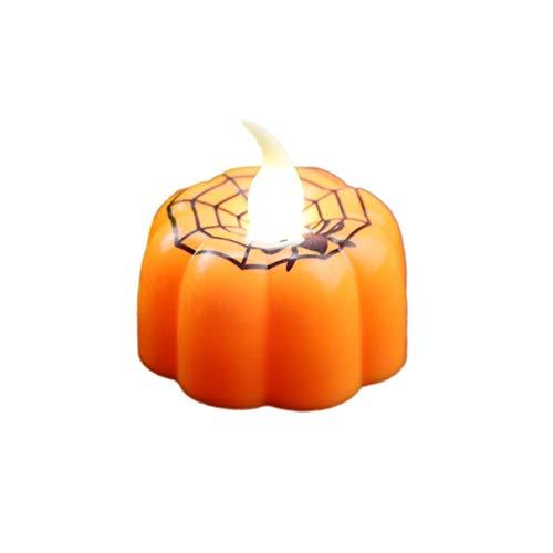 Homeit Halloween LED 3D Kürbis Flammenlose Kerzen Für Die Dekoration Halloween Party Hochzeit Festival Feier Geburtstag Zubehör