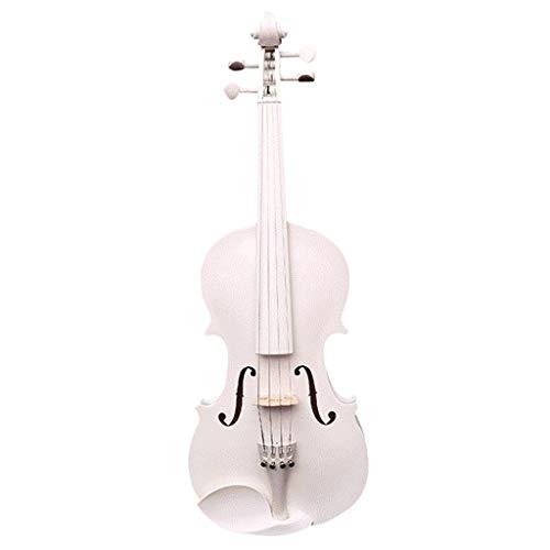Violini Strumenti Musicali Acero Strumento a Corde Bianco Professionale Accessori Completi Suono Eccellente Strumenti a Corda (Color : 4/4)
