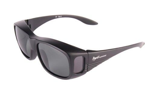 Rapid Eyewear Noir SUR-LUNETTES DE SOLEIL POLARISÉES pour la conduite, le cyclisme, le pêche et autres sport. Protection anti UV 400: anti lumière bleue. Lunettes solaires pour hommes et femmes